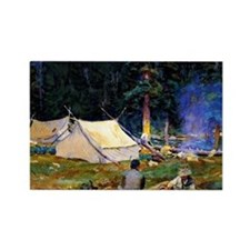 Sargent - Camping at Lake O'Hara Rectangle Magnet