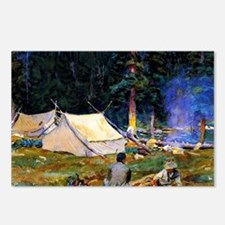 Sargent - Camping at Lake Postcards (Package of 8)