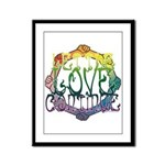 Let the Love Continue Framed Panel Print