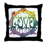 Let the Love Continue Throw Pillow