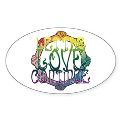 Let the Love Continue Oval Decal