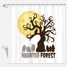 Hanunted Forest Shower Curtain