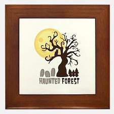 Hanunted Forest Framed Tile