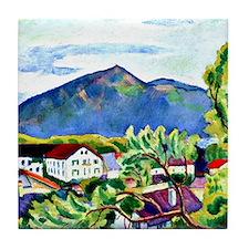 August Macke - Spring Landscape in Te Tile Coaster