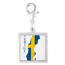 Swedish Flag Map Charms