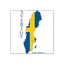 Swedish Flag Map Sticker