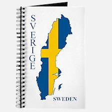 Swedish Flag Map Journal