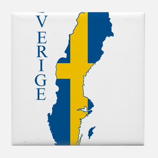 Swedish Flag Map Tile Coaster