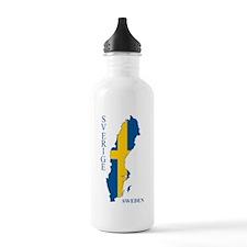 Swedish Flag Map Water Bottle