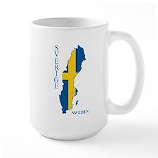 Swedish Flag Map Mugs