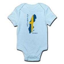 Swedish Flag Map Body Suit