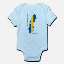 Swedish Flag Map Body Suit
