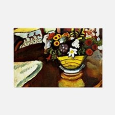 August Macke - Still Life with St Rectangle Magnet