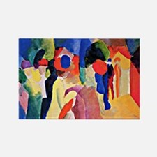 August Macke - Woman with a Yello Rectangle Magnet