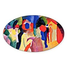 August Macke - Woman with a Yellow  Decal
