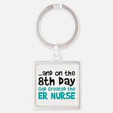 ER Nurse Creation Square Keychain