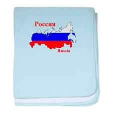 Russian Flag Map baby blanket