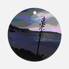 greatly changed, beach Ornament (Round)