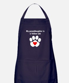 My Granddaughter Is A Yellow Lab Apron (dark)