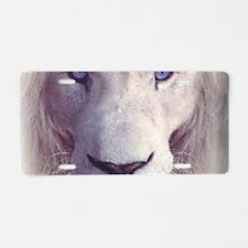white lion  Aluminum License Plate