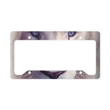 white lion  License Plate Holder