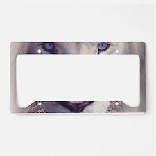 white lion  License Plate Holder