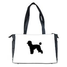 poodle black 1 Diaper Bag