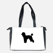 poodle black 1 Diaper Bag