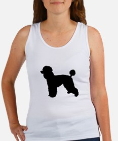 poodle black 1 Tank Top