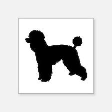 poodle black 1C Sticker