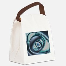 Blue Eyes of A Machine Canvas Lunch Bag