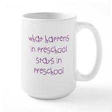 What happens in preschool Mugs