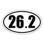 26.2 Oval Car Sticker