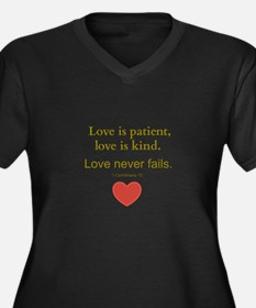 Love is Patient, Love is Kind Plus Size T-Shirt