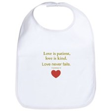 Love is Patient, Love is Kind Bib