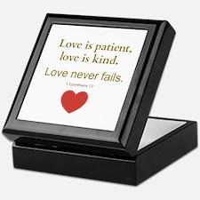 Love is Patient, Love is Kind Keepsake Box
