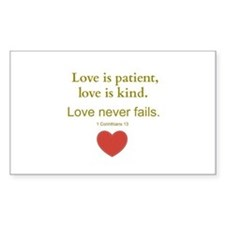 Love is Patient, Love is Kind Decal