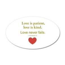 Love is Patient, Love is Kind Wall Decal