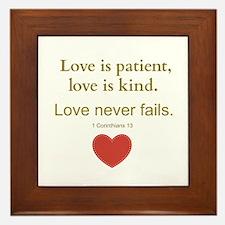 Love is Patient, Love is Kind Framed Tile