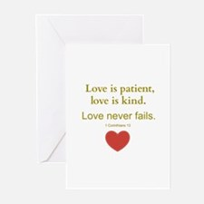Love is Patient, Love is Kind Greeting Cards