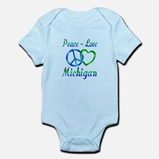 Peace Love Michigan Infant Bodysuit