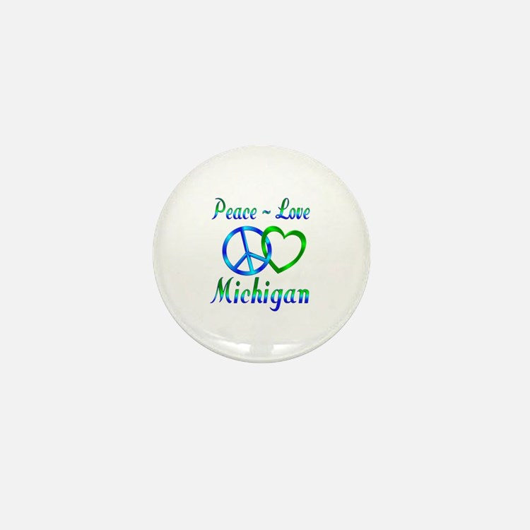 Peace Love Michigan Mini Button