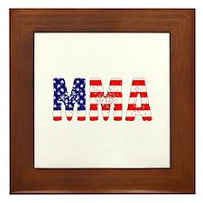 MMA USA Flag Framed Tile