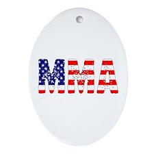 MMA USA Flag Oval Ornament