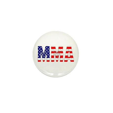 MMA USA Flag Mini Button