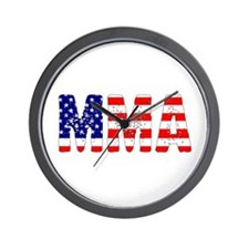 MMA USA Flag Wall Clock