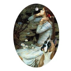 Ophelia & Boxer Ornament (Oval)