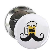 "Beer Mustache 2.25"" Button"