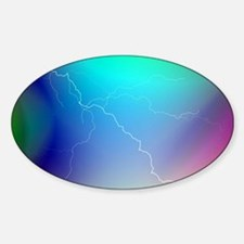 Colorful Art and Design Sticker (Oval)