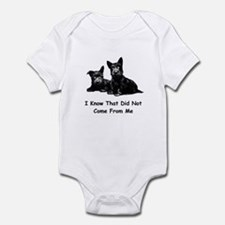 THAT DID NOT COME FROM ME Infant Bodysuit